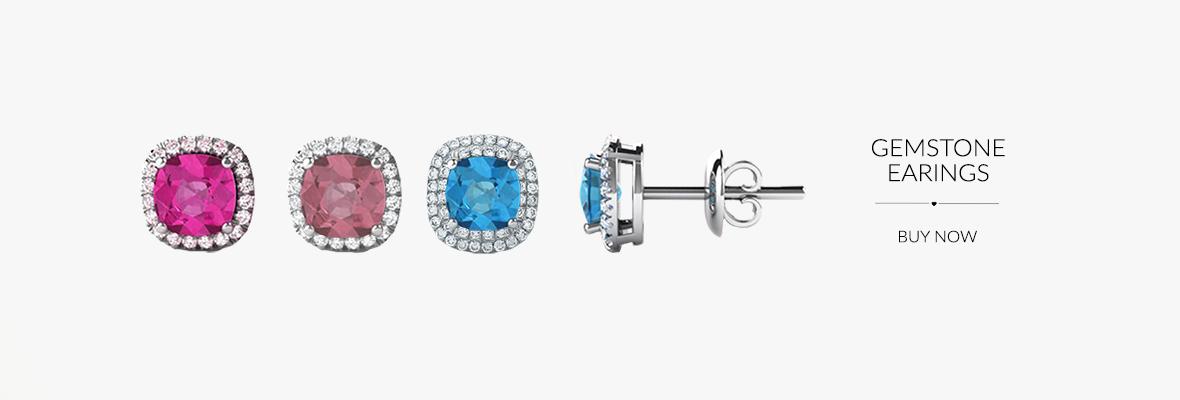Gemstone earings