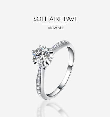Solitaire Pave Engagement Rings