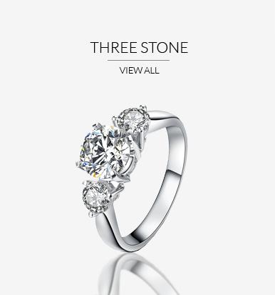3 Stones Engagement Rings